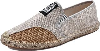 MAIAMY Hommes Chaussures Plates décontractées Chaussures en Toile Basses Chaussures de Conduite Respirantes légères Printe...