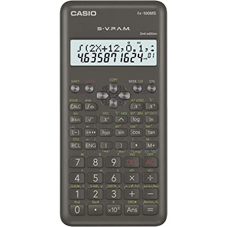 Casio FX-100MS 2nd Gen Non-Programmable Scientific Calculator, 300 Functions and 2-line Display