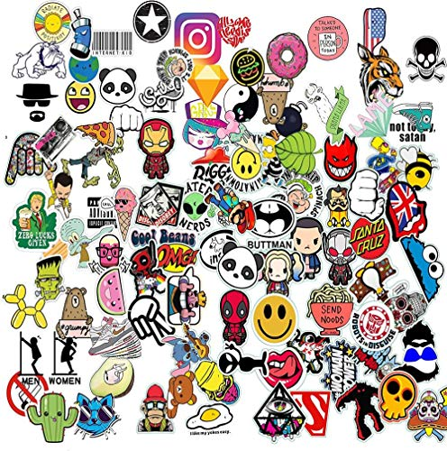 (25 Pack) Sticker Bomb Pack Variety Vinyl Car Sticker Motorcycle Bicycle Luggage Decal Graffiti Patches Skateboard Stickers for Laptop Stickers