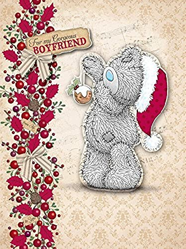Boyfriend Me to You Bear Luxury Boxed Christmas Card by Me To You