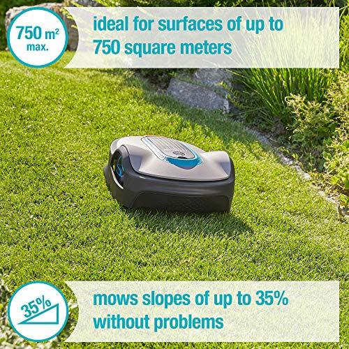 GARDENA Sileno Life 750 Lawn Area Coverage