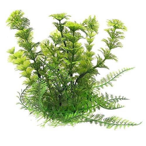 TOOGOO(R) Kuenstliche Wasserpflanzen Dekoration Lebensecht Plastik Meer Pflanzen Wasserpflanze Fuer Aquarium Fisch Tank Gruen