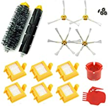 Dolloress Bristle Brushes+Side Brushes+Filters+Screws Cleaning Tools Replacement Kit Compatible with Irobot Roomba 700 Ser...