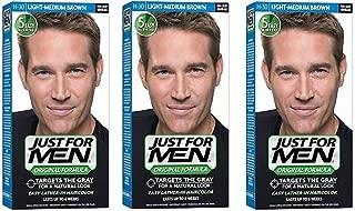 Just For Men Original Formula Men's Hair Color, Light Medium Brown (Pack of 3)