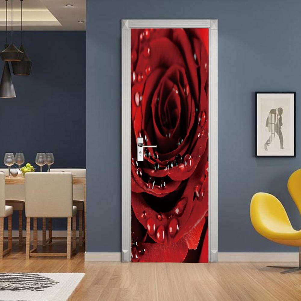 Door Stickers Self-Adhesive Limited price sale 3D Los Angeles Mall Decal Waterproof M Wall