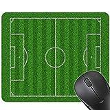 Centurrie Hombres Niños 24x20CM Campo de fútbol Juego del ratón Estera del cojín de Goma Alfombrilla de ratón Parque Infantil Deportes Imprimir Mat Teclado