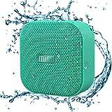 Mifa Mini Altavoz Portátil Bluetooth 4.2 Impermeable IP56 y Tecnología True Wireless Stereo & DSP, Anti-Polvo con 15 Horas Continua y Tarjeta de microSD, Micrófono Incorporado, Verde