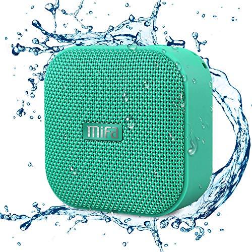 MIFA Altoparlante Mini Portatile Bluetooth 4.2 Tecnologia TWS e DSP, IP56 Impermeabile, Scheda Micro SD, Cavo Audio 3,5 mm e Microfono Incorporato per iPhone, iPad, Samsung, Huawei, Honor, Verde