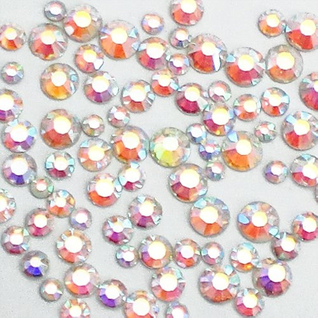 イチゴ違うアッパー高級ガラスストーン サイズMIX オーロラ