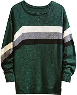 Men's Knitted Sweater Beautyfine Autumn Winter Casual Pullover O-Neck Long Sleeve Tops