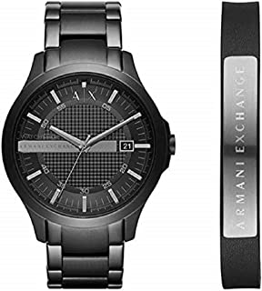 Armani Exchange Men's Black Dial Stainless Steel Band Watch - AX7101