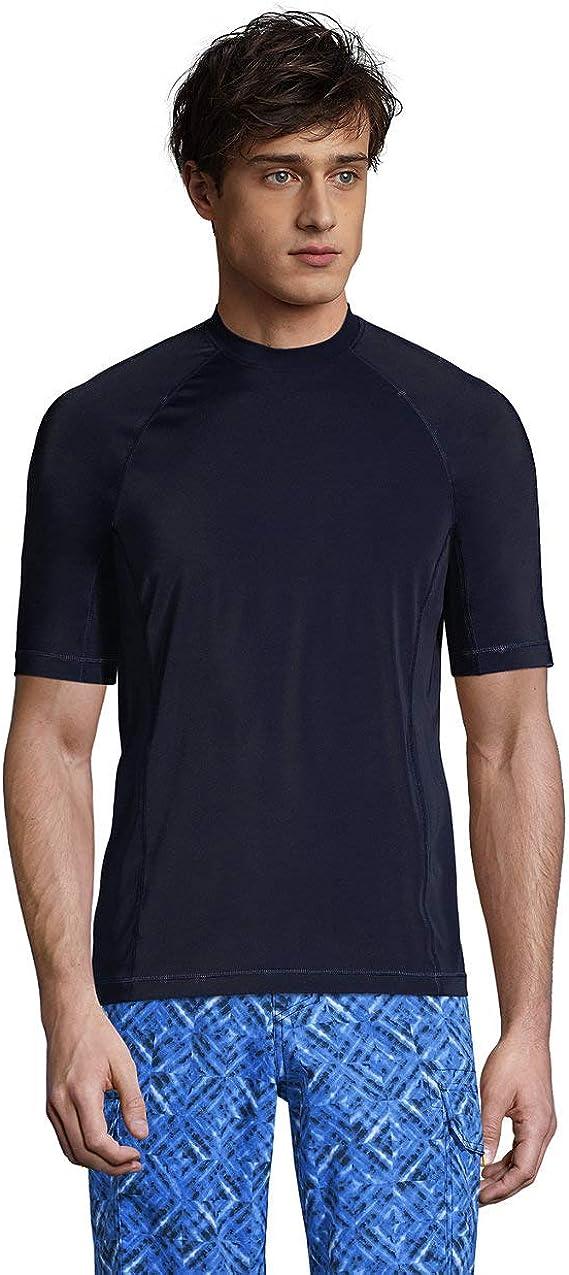 Lands' End Men's Short store Sleeve Swim Rash Max 41% OFF Tee Guard