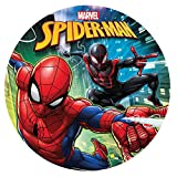 Dekora - Disco Comestible para Decoración de Tartas de Cumpleaños de Spiderman - 20 cm