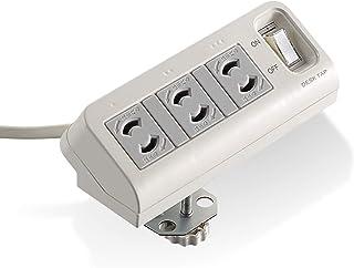 エレコム 電源タップ デスクに固定用 集中スイッチ付 3個口 T-DK2320CBS