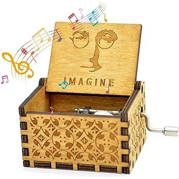 NNDUO Cajas de m/úsica de Madera Amigos ni/ñas La Vie en Rose Caja de Madera Tallada a Mano Caja Musical cl/ásica Hecha a Mano Grabado San Valent/ín Regalo de cumplea/ños para ni/ños
