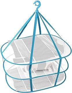 物干しネット, 洗濯物干しネット 枕干し ネット 平干しネット 3段 折りたたみ式 コンパクト 虫除けネット 吊り下げ式 食器乾燥 (3段)
