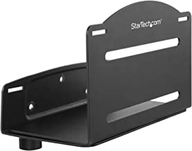 StarTech.com Wall Mount CPU Holder - Adjustable Width 4.8in to 8.3in - Metal - Computer Tower Mounting Bracket for Desktop PC (CPUWALLMNT)