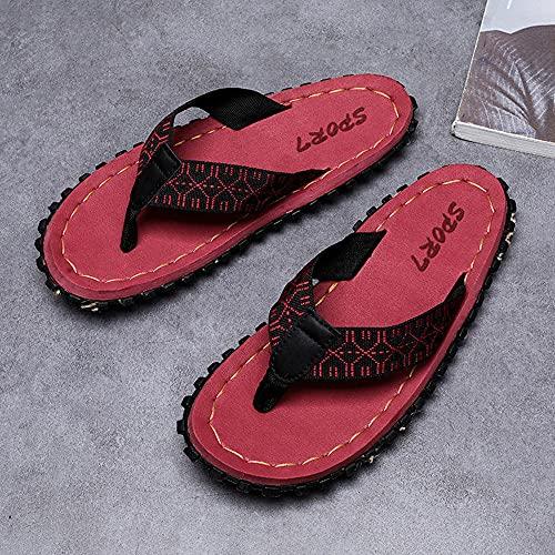 RRGG Chanclas, Sandalias de Chanclas con Punta Abierta para Hombres, Desodorante Sandalias Resistentes al Desgaste-Red_43, Zapatos