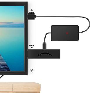 電源アダプタ 薄型 テレビのUSBポートから直接取り出し、ACコンセントが不要になります
