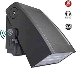 30W LED Wall Pack light with Dusk-to-Dawn Photocell, 0-90� Adjustable Head Waterproof Outdoor Lighting Fixture, 150-250W HPS/HID Replacement 5000K 3300lm ETL DLC Listed 10-year Warranty by Kadision