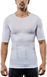 DANALA Short Sleeve Color Block Round Neck Striped T-Shirt Top Raglan Tee