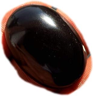 RASIO Cabujón de obsidiana arco iris negro, piedra preciosa semipreciosa natural, forma de pera 48 quilates 41x23x8 mm, K-...