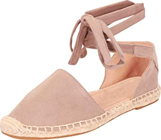 Cambridge Select Women's Closed Toe Crisscross Ankle Tie Espadrille Flat