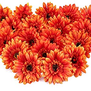 XYXCMOR 24Pcs Artificial Flowers Heads Silk Flower Faux Floral Hydrangea Heads Sunflowers Arrangements Spring Decorations for Home Table Party Garden Kitchen Decor