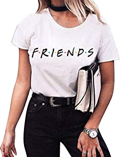 desolateness Women's Crew Neck Casual Short Sleeve Summer Letter Print Top Blouse T Shirt 3 Smalll
