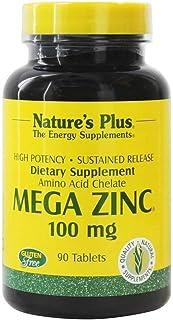NaturesPlus Mega Zinc, Sustained Release - 100 mg, 90 Vegetarian Tablets - Maximum Absorption Immune Support Supplement, B...