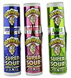 Warheads Super Sour Candy Spray Bottles, Sampler, Bundle, (.68 Oz. Bottles), Blue Raspberry, Apple and Watermelon from Warheads