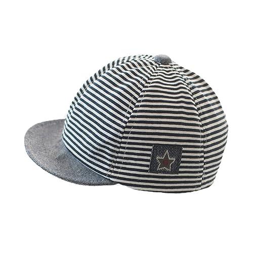 bbffb7d502b Newborn Baby Boys Girs Cotton Stripes Mesh Baseball Cap Sun Protection  Newsboy Hat Beanie Beret Cap
