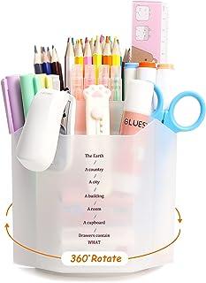 Cute Rotate Art Supply Organizer,Kawaii Colored Pencil Holder - Art Caddy Accessories Carousel, Spinning Desk Office Suppl...