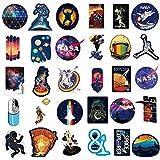NASA Stickers for Laptop [100PCS], Pegatina Explorador de Espacio Calcomanías de Vinilo para Botella de Agua MacBook Coche Bicicleta Patineta Equipaje Astronauta Universo Pegatina de Graffiti…