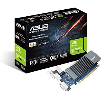ASUS GT710-SL-1GD5 GeForce GT 710 Graphics Card with 0 dB Efficient Cooling, Black