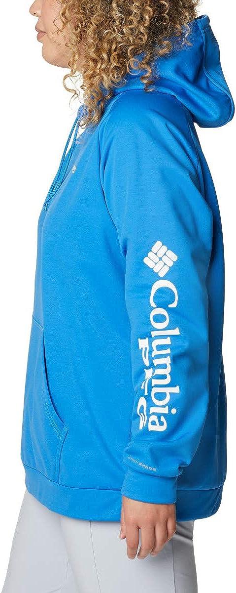 Columbia Tidal Fleece Hoodie Tidal Fleece Hoodie Femme Logo Bleu Azur/Blanc.