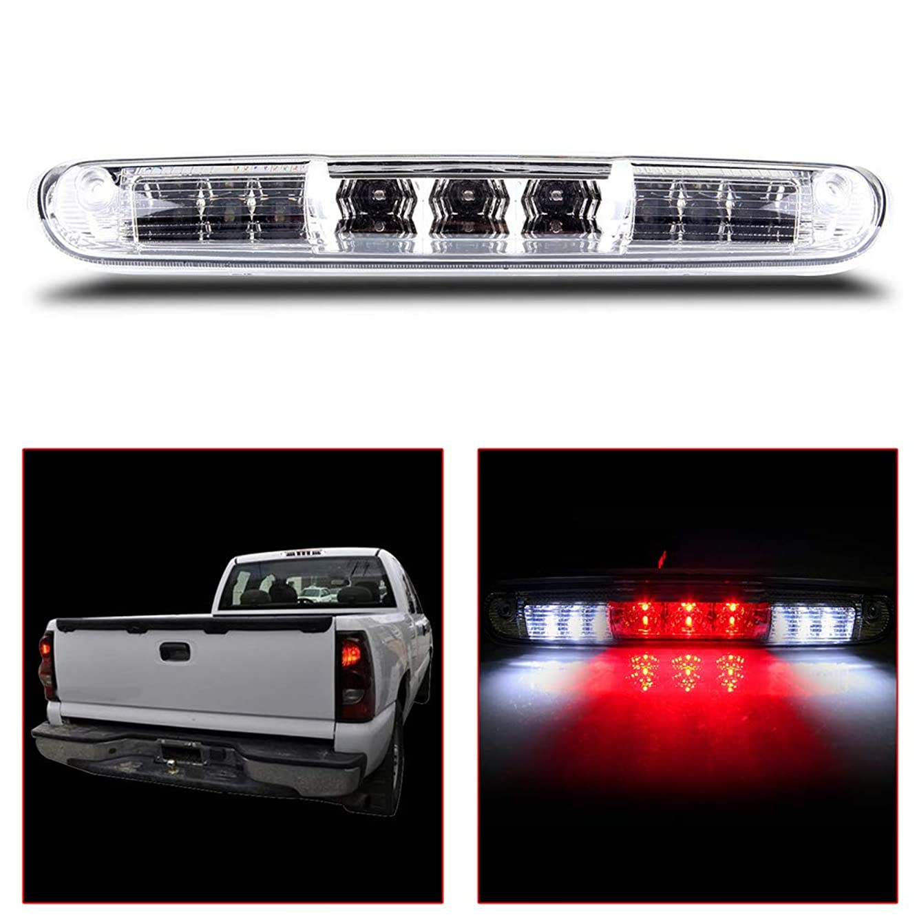 OCPTY Third 3rd High Mount Brake Light Lamp Replacement Rear Roof Light Replacement fit for 2007-2013 Chevy Silverado/GMC Sierra