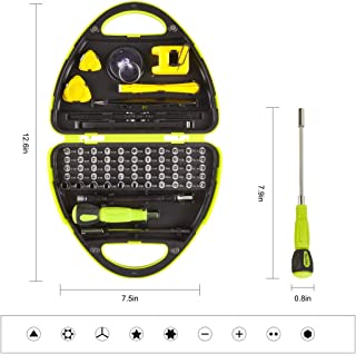 Multifunctional precision screwdriver kit, 67-in-1 screwdriver kit, with magnetizer, sucker, triangular tilt, crowbar, tweezers, suitable for professional repair of computer/Iphone/Xbox/watch/camera.