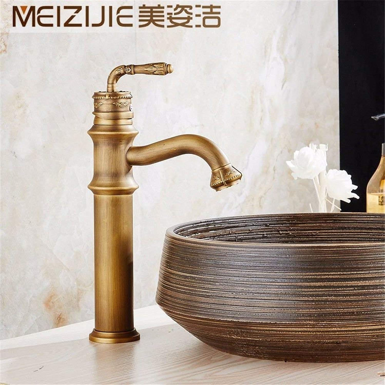 Oudan Bathroom Sink Basin Tap Brass Mixer Tap Washroom Mixer Faucet The Antique brass faucet cold water basin surface basin art basin washbasin retro single hol