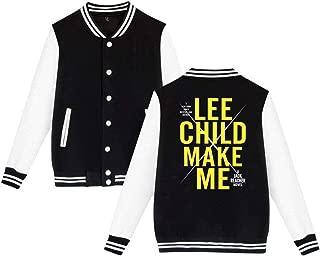 Make Me A Jack Reacher Novel Mens & Womens Classic Hoodie Baseball Uniform Jacket Sport Coat Black
