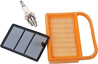 HIFROM Replace Air Filter + Pre Filter with Spark Plug Fit for BR320 STIHL TS410 TS420 Lawn Mower Replace 4238-140-1800 4238 140 4401 42381410300B