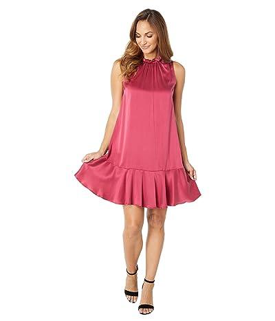 Badgley Mischka Silk Flounce Hem Dress