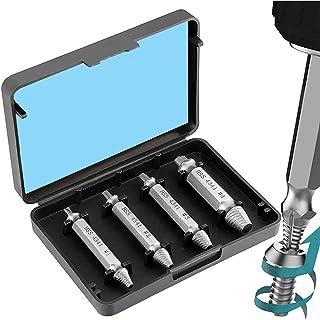MMOBIEL 4 delige dolgedraaide schroeven verwijder set voor gebroken gestript of dolgedraaide schroevent Remover Tool voor ...