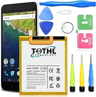 TQTHL G3 G4 G5 - Batería de Repuesto de Ion de Litio (3200 mAh) 3600mAh-Google Nexus 6P Battery with Toolkit
