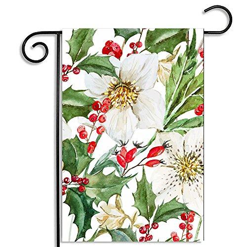 FahnenMax Drapeau de jardin fleurs vert blanc 3 Taille, 31x46cm