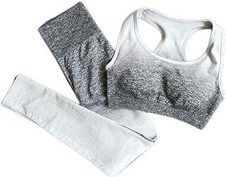 XFKLJ Sports Bra Yoga Pants Women Fitness Gym Clothing High Waist Sports Suit Padded Gym Set Clothes Yoga Set Workout Spor...
