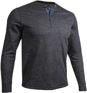 Men's Long Sleeve Pocket Henley Pullover
