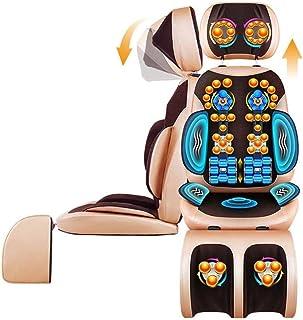 Silla De Escritorio De Oficina Masajeador De Espalda para El Cuello para Silla, Masajeador De Cuerpo Completo con Calor, Cojín De Masaje De Vibración para El Cuello, Espalda, Hombros, Altura Ajustabl