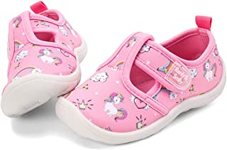 nerteo Boys Girls Cute Aquatic Water Shoes | Rainbow, Dinasour, Unicorn, Shark | Toddler/Little Kid