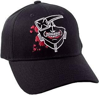 Tokyo Ghoul Baseball Cap Kaneki Mask Logo Official Manga Black Strapback
